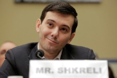 """Martin Shkreli (and his infamous smirk), former CEO of Turing Pharmaceuticals LLC, prepares to testify before a House Oversight and Government Reform hearing on """"Developments in the Prescription Drug Market Oversight"""" on Capitol Hill in Washington February 4, 2016. REUTERS/Joshua Roberts - RTX25FRR"""