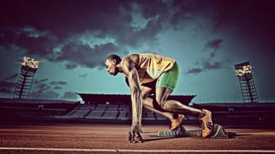 Usain Bolt at the starting blocks - SPORTTOPESTKA.PL